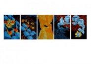 1993 serie van 5 zeefdrukken